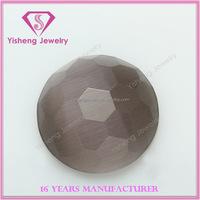 Loose eye cat precious stones round shape flat bottom opals price buyer