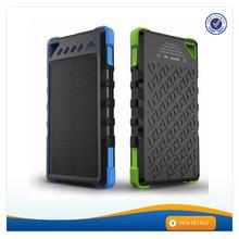AWC088 2015 New Waterproof Solar Power Bank 8000mAh Solar Mobile Phone Charger Solar Charger For Mobile Phones