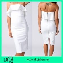 bodycon vestidos de blanco en las mujeres peplum del hombro vestido de noche de alibaba proveedor de vestidos