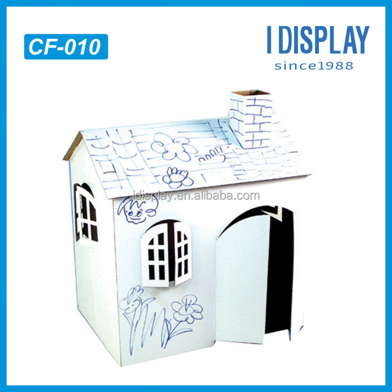 분리/ easy- 조립 환경- 친화적 인 사용자 정의 종이 DIY 개 집 판매