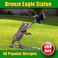 Maunfacture high quality marble bronze american eagle