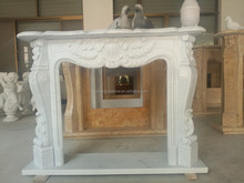 Franch outdoor fireplace white Stone marble Fireplace