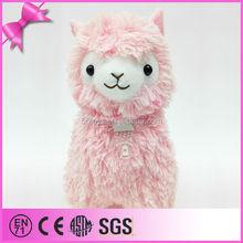 different color promotional lifelike plush alpaca toy