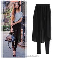 Europeo 2015 últimas mujeres del estilo pantalones de vestir falda elástico nuevos pantalones diseño moda pantalones