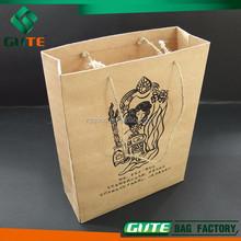 Wholesale Logo Printed Cotton String handles Paper Promotion bag gift paper bag shopping paper bag