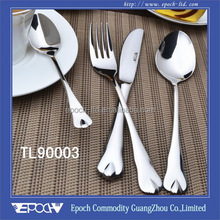 2015 mirror polish ready goods spoon and fork wedding gift