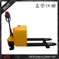 2T CE AC battery three wheels powered china mini semi electric pallet truck