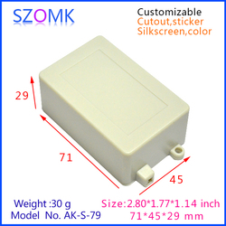 ABS plastic enclosures for electronic(71*45*29mm)
