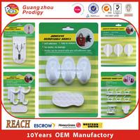 SGS plastic self adhesive hanger hooks