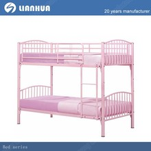 pink double decker bed