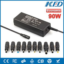 90W Economic adapter 10 tips Auto Universal Netbook Power charger with USB 5V 2A