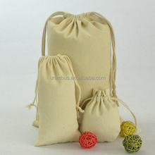 alibaba China factory wholesale bag Custom Cheap Cotton Drawstring Bag Sweet Jewelry Pouch