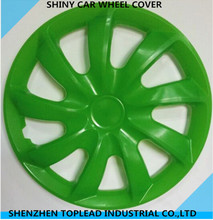 Shiny and Full New Material Anti-wear Green Car Wheel Hubcaps for Universal