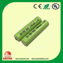 High quality nimh aa 600mah 1.2v battery