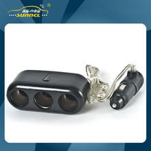 3 way Car Charger Socket Adapter Plug with CE Certificate for Cell Phones , iPhones , iPads & Tablet