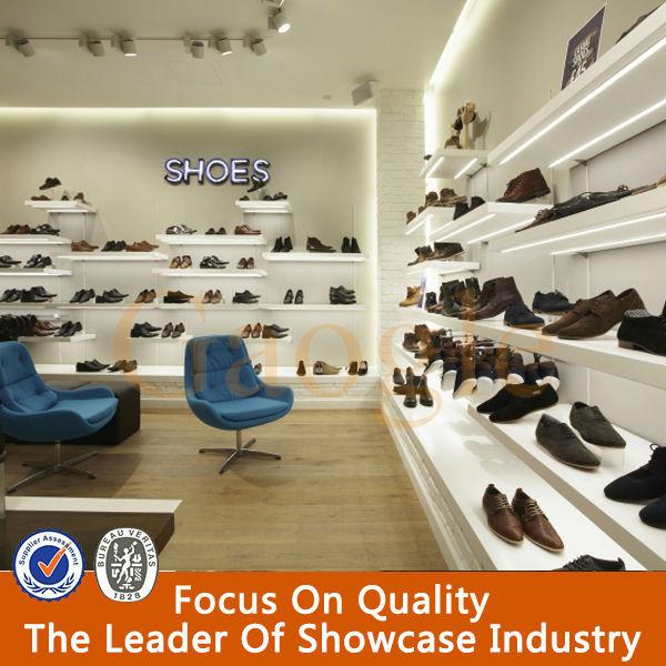 China por encargo zapatos de sala de exposición de diseño-Estantes ...