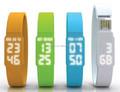 La novedad de múltiples funciones reloj pulsera usb, precio de fábrica del silicio de la pulsera reloj LED USB 2.0, real reloj USB flash drive