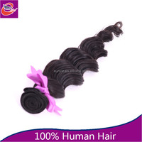 Aliexpress wholesale 22 inch temple Peruvian human hair extension, clip in hair extension, crochet hair extension