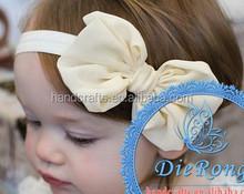 cheap baby girl chiffon hair bow accessories toddler children kids bow headband accessories
