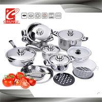 stainless steel capsule bottom korean cookware