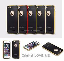 Original love mei double color aegis phone case for iphone 6 6plus, Hybrid shockproof case for iphone 6 plus