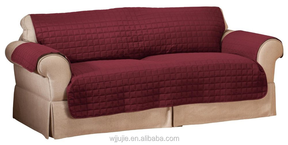 Waterproof quilted reversible furniture slipcover to chair for Sofa cushion covers dubai