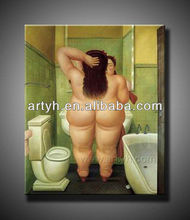 Hot Sell Nude Fat Woman Oil Painting Handmade Canvas Figure Art