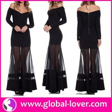 Black Evening Dress With Side Split
