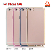 Biaoxin OEM/ODM Factory Directly Mobile Phone Case, PC clear case for iphone 6s cover, Electroplating laser matt printed