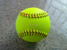 """12"""" optic yellow leather fast pitch softball cor.44 compression 375"""