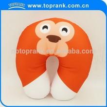 TOPRANK neck travel pillow microbead, custom microbead pillow animals, travel neck pillow filled with polystyrene beads