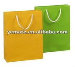 Green and brown grocery paper bag,kraft grocery paper bag, colorful shopping paper bags with handles