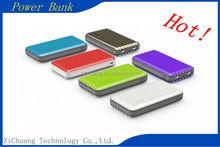 Hot 2015 ABS PC 11200mah colorful fashion Customized capacity LED light rectangular dual USB luggage box Power Bank