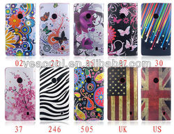 Flower Series Magnetic Flip Wallet Leather Stand Case Cover for Nokia Lumia 520