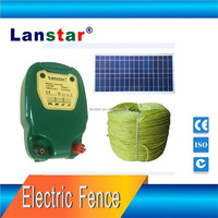 Solar power supply livestock fence energizer/charger, farm fencing system for animal management