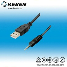 Simple design audio output jack to usb 2.0 with 3.5mm audio jack best price audio cable