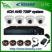 p2p AHD camera AHD DVR 4CH 720P AHD system DIY KIT 3m library security system