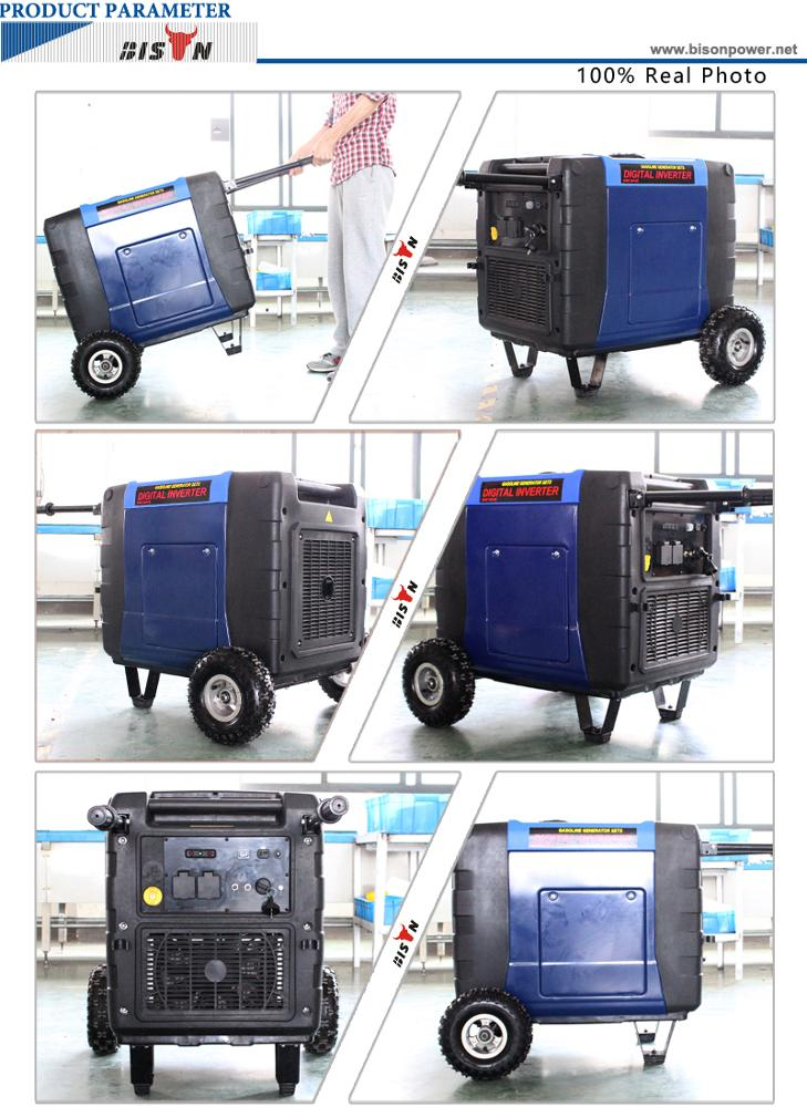 6.3kw Diesel Engine Inverter Generator with Handle and Wheels BS-X7000 9