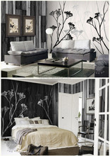Gris Design Classic Style Timber Plank Series Theme Mural Skandinavia Grey Version Non-woven Paper Wallpaper for Decoration
