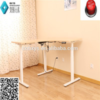 ko office desks specific use and metal material two legs electric height adjustable table with FCC certification