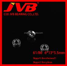 61/86 6*13*3.5mm home appliance Deep Groove Ball Bearing 61/86