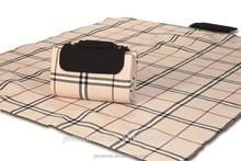 "Waterproof Mega Mat Foldable Picnic Blanket with Shoulder Strap - 68"" x 82"" (Beige Traditional)"