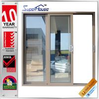 Australia AS2047 standard commercial large sliding triple glass sound insulation door