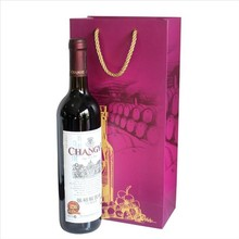 christmas packaging bottle paper wine bag with handle