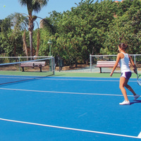 Eco-friendly synthetic 6mm used tennis court sports flooring
