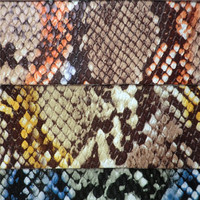 Fashion design pu leather,artificial snake skin leather for laptop bags DG0449