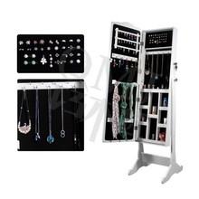 Full Length Framed Mirror Jewelry Cabinet Armoire Dresser Organizer