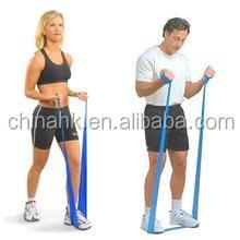 Door gym elastic yoga band,colorful gym band,home gym resistance band