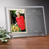 Logo Customized Optical Crystal Photo Frame With Photo Insert For Grandma Gift