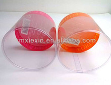 gift packaging printed cylinder boxes plastic round clear box with customized